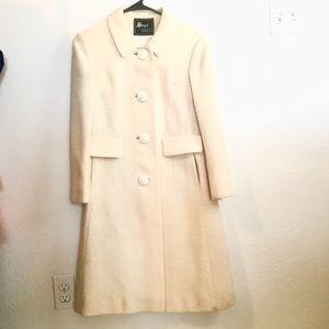 VINTAGE Women's Coat Cream Color Size 4